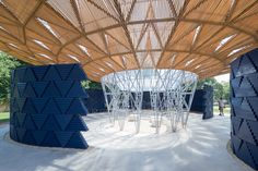 Serpentine Pavilion de Diébédo Francis Kéré é inaugurado em Londres,Serpentine Pavilion 2017, projetado por Francis Kéré. Serpentine Gallery, Londres (23 de junho - 8 de outubro de 2017) © Kéré Architecture. Image © Iwan Baan