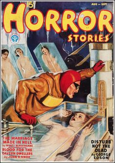 Dime Mystery and Horror Stories-Pulp Covers