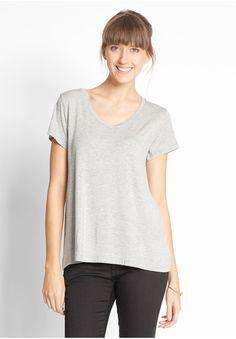 MbyM Marcel Go Green Luxe Damen Basic T-Shirt, grau, size: XS