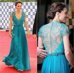 New 2014 Best Selling Custom Made Floor Length Gowns V-neck Colorful Kate Middleton Celebrity Dresses Party Evening Elegant Long ✿