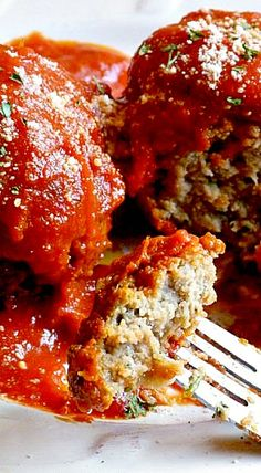 Slow Cooker Meatballs and Marinara Sauce by itsmysideoflife #Meatballs #Slow_Cooker