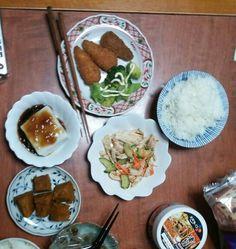 6月24日(火) 晴れ雨 棒々鶏 ささみ ゴマ豆腐 カボチャ キムチ 62.7