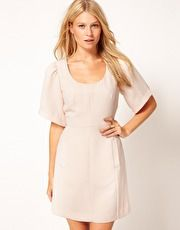 ASOS Scoop Neck Dress With Pockets