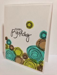 Cupcakes, Cards and Kim: Happy Saturday! Karten Diy, Scrapbooking, Happy Birthday Cards, Birthday Greetings, Birthday Wishes, Bird Cards, Watercolor Cards, Watercolour, Tampons