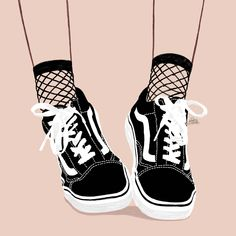 Smell Like Teen Spirit © Petite Bohème #illustration #drawing #sketch #minimal #fashion #fashionillustration #shoes #shoesaddict #vans #vanslovers #ootd #ootdfashion #lookoftheday #sneaker #socks #teenager #teen