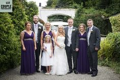 The bridal party in the gorgeous gardens at Rathsallagh. Weddings at Rathsallagh House Hotel by Couple Photography.