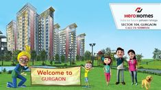 New Launch project Hero Homes Sector 104 at Dwarka Expressway Gurgaon by Hero Homes. Residential property Starting from Only. Outdoor Swimming Pool, Swimming Pools, Jogging Track, Power Backup, Bathroom Gallery, Multipurpose Room, Kids Play Area, Close Proximity