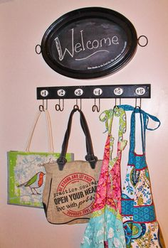 Chalkboard tray, a couple of Mary & Martha's cute totes and their adorable aprons! www.mymaryandmartha.com/AMYMCLAUGHLIN/
