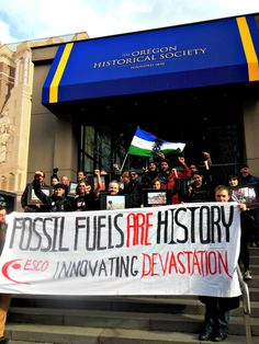Climate Justice Activists in Portland, OR Occupy Exhibit for Tar Sands Profiteer ESCO Corp.
