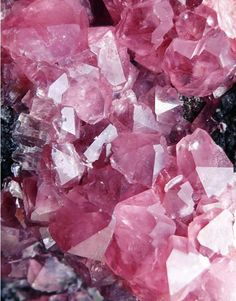 Colors of the Colorless  #pink #crystals
