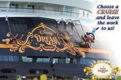What is your favorite thing about a cruise?!  If you've never been on a cruise, Magical Vacation Planner can plan your Disney Cruise Line trip and handle all the details. Our service is free to you as we provide personal, expert care for you and your family.