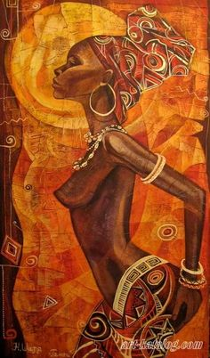 African Art gallery for African Culture artwork, abstract art, contemporary art daily, fine art, paintings for sale and modern art Images D'art, Afrique Art, African Paintings, Contemporary Art Daily, Black Artwork, African American Art, Black Women Art, Beauty Art, Female Art