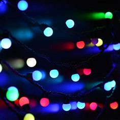 Xcellent Global Multi Color 100 LED 33 ft Globe String Lights with 8 Lighting Modes Power Supply Linkable String Lights for Xmas Christmas Wedding Party Garden Home Patio LD059S >>> Check out the image by visiting the link.