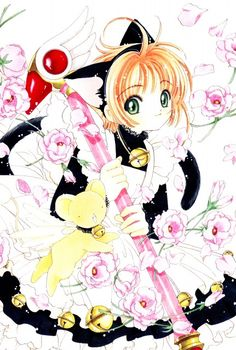 Sakura and Kero-chan from Cardcaptor Sakura