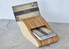 Eco Friendly Savy Business Card Holder by 50SplintersWoodworks