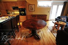 round tables made from reclaimed barn wood | Reclaimed Ontario Barnwood Round Tables