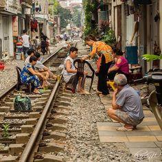 Living on the tracks.  #instagood #fun #travel #twitter #travelling #hanoi #vietnam #tracks #people #explore #discover #olympus #olympus_au #olympusinspired #getolympus #photography #photo #travelphoto #travelphotography #natgeotravel #city #life #love #holiday #ig_photooftheday #wow