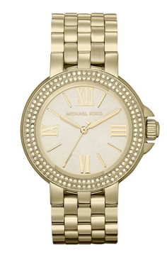 Michael Kors 'Lucy' Crystal Bezel Bracelet Watch available at #Nordstrom- OWN THIS AND LOVE IT!!!