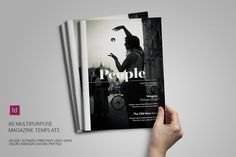 cool A5 Multipurpose Magazine Template CreativeWork247 - Fonts, Graphics, T...