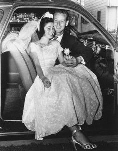 1950's bride and groom