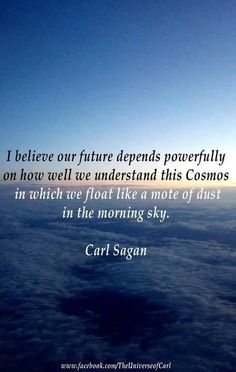 Truth be told...   ...like a mote of dust.....Carl Sagan