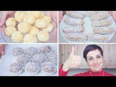 DOLCETTI AL COCCO 3 idee facili e veloci da fare con i BAMBINI - 3 quick and easy Coconut Treats - YouTube