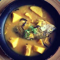 Yam and Fish Pepper Soup  #Nigerian Food