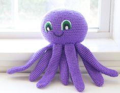 Crochet Octopus/ Choose Your Colors/ Custom by TheFadedWildflower