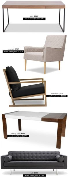 designer furniture for less