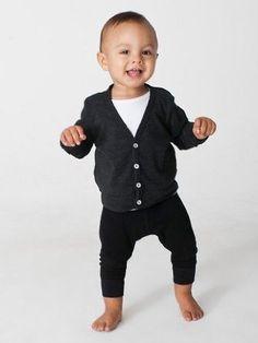 American Apparel Infant Tri-Blend Rib CARDIGAN and leggings. STOP IT!