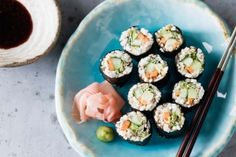 """Rawkin Sushi Rolls from Cauliflower Rice   """"Substitute brown rice vinegar with coconut vinegar and Tamari with coconut amino acids."""" -MB."""