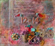 Mixed media album cover - #scrapping4funchallenges Mixed Media Journal, Album Covers, Creative, Painting, Art, Art Background, Painting Art, Kunst, Paintings