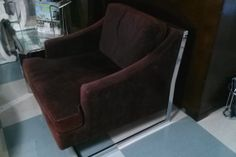 Mid Century Modern 1970's Brown Velvet and by Floridamodern33405, $1200.00