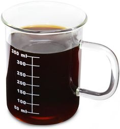 Chemistry students, take some inspiration from your studies and fill this glass beaker mug with a favorite solution.