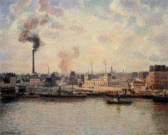 The Saint Sever Quay, Rouen (1896) / by Camille Pissarro