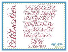Celebration Serif Embroidery Font