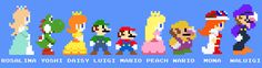 Mario crew 8bits by =ZeFrenchM on deviantART  Can that Mona be real. Please.