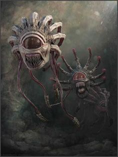 It looks Beholders trying to mate. d&d, pathfinder, rpg, monsters, Dark Fantasy Art, Fantasy Artwork, Monster Concept Art, Fantasy Monster, Monster Art, Creature Concept Art, Creature Design, Arte Horror, Horror Art