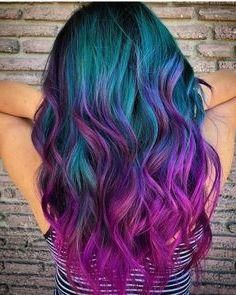 Stratosphere Teal & Magenta color, 23 Incredible Ways to Get Galaxy Hair i. Stratosphere Teal & Magenta color, 23 Incredible Ways to Get Galaxy Hair in Cute Hair Colors, Pretty Hair Color, Bright Hair Colors, Beautiful Hair Color, Hair Dye Colors, Hair Color For Black Hair, Teal And Purple Hair, Vivid Hair Color, Colorful Hair