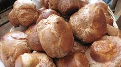 Popovers, Popovers on the Square: These popovers are made with homemade maple butter.