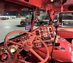We are loving the interior on this Freightliner! Have a good night Show Trucks, Big Trucks, Chevy Trucks, Customised Trucks, Custom Trucks, Truck Interior, Interior Ideas, Freightliner Trucks, Custom Big Rigs