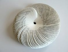 all things paper: Seashell Book Sculptures by Rosie Miller