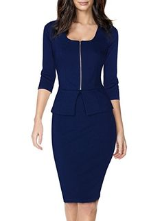online shopping for Miusol Women's Square Neck Busniess Peplum Fitted Casual Bodycon Dress from top store. See new offer for Miusol Women's Square Neck Busniess Peplum Fitted Casual Bodycon Dress Business Dresses, Business Outfits, Office Outfits, Business Casual, Office Wear, Corporate Business, Cute Dresses, Casual Dresses, Fashion Dresses