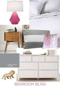 Most Design Ideas Pretty Gray Bedroom Pictures, And Inspiration – Reconhome Grey Green Bedrooms, White Gray Bedroom, Blue Grey Walls, Silver Bedroom, Pink Bedrooms, Bedroom Green, Grey Wall Decor, Grey Bedroom Decor, Grey Home Decor