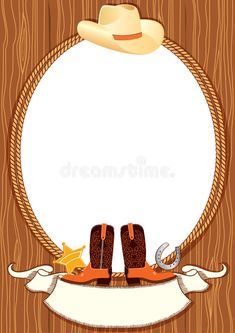 Illustration about Cowboy poster background for design with cowboy elements. Illustration of illustration, boots, party - 18347618 Western Games, Western Decor, Western Cowboy, Cowboy Birthday, 21st Birthday, Cowboy Party Invitations, Cowboy Baby Shower, Vintage Labels, Baby Shower Themes