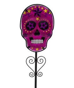 Loving this Purple Day of the Dead Stake on #zulily! #zulilyfinds