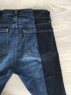 DIY two tone jeans, sew your own two tone denim using two pairs of jeans