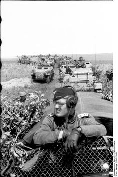 German mounted troops( notice the grin of the Oberfeldwebel in the foreground!) . Russia 1942