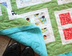 quilting with minky tips from allison harris of cluck cluck sew