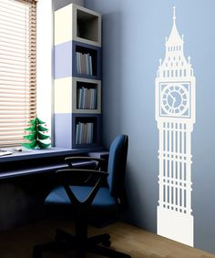 Wallquotes.com White Big Ben Wall Decal by London Calling: Home Décor